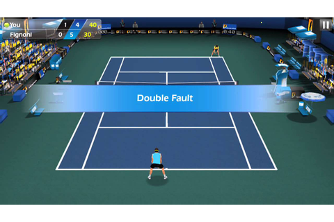Flick Tennis Android GamePlay 3D Tennis Game - YouTube