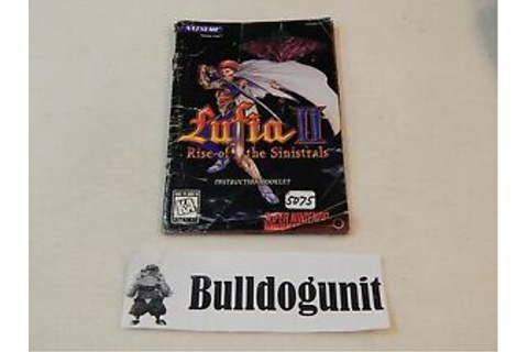 Lufia II Rise of the Sinistrals SNES Manual Only No Game ...
