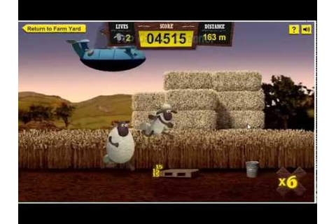 Shaun the sheep Game - Alien Athletics My best 248 m - YouTube