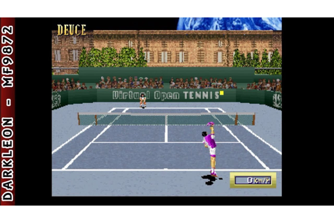 Sega Saturn - Virtual Open Tennis (1996) - YouTube