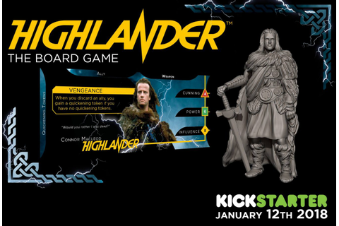 Highlander Board Game Coming to Kickstarter | Gameosity