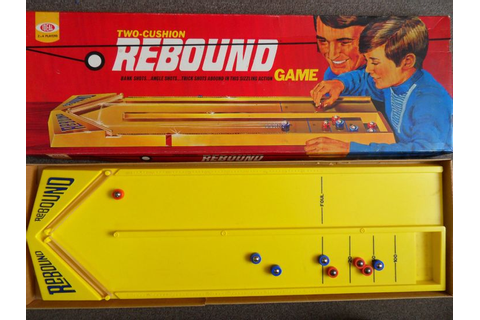 Classic Vintage Board Game Rebound 1970 Issue by Ideal ...