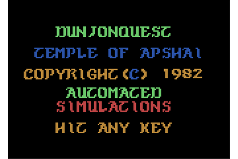 Download Dunjonquest: Temple of Apshai - My Abandonware