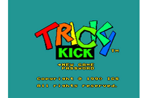 Tricky Kick Review for TurboDuo (1991) - Defunct Games