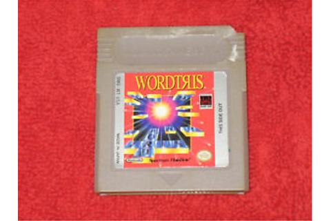 Wordtris Nintendo Game Boy Video Game | eBay
