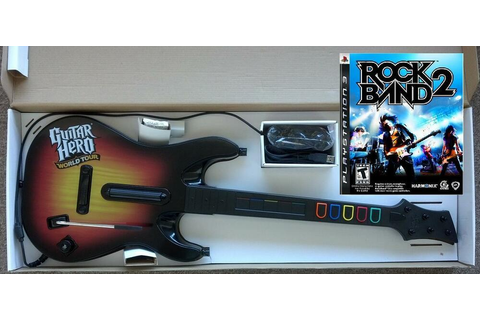 NEW PS3 Guitar Hero World Tour Wired Guitar & Rock Band 2 ...