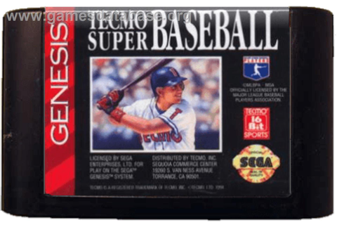 Tecmo Super Baseball - Sega Genesis - Games Database