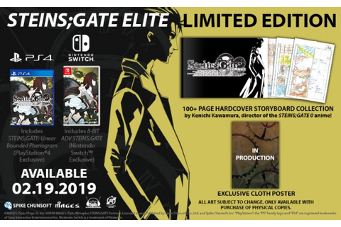 Steins;Gate Elite for PS4 and Switch launches February 19 ...