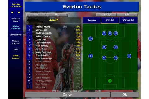 Championship Manager: Season 99/00 Screenshots for Windows ...