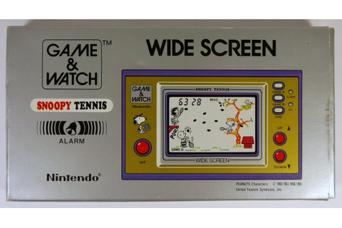 Watch my Game: Snoopy Tennis - Nintendo Game & Watch