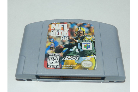 NFL Quarterback Club 98 Nintendo 64 N64 Video Game Cart ...