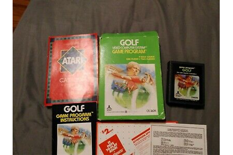 Vintage Golf Atari 2600 Game 1980 CX2634 CIB box manual ...