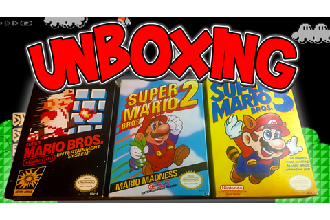 UNBOXING Super Mario Bros. 1,2, & 3 | NES Retro Games ...