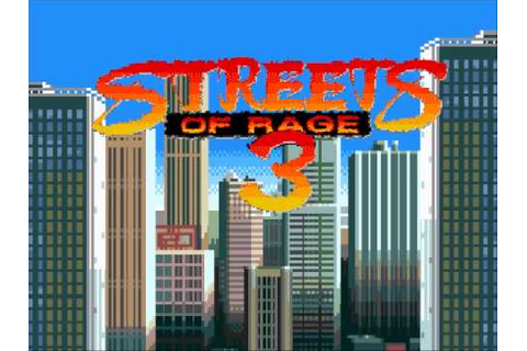 Streets of Rage 3 - Game Over - YouTube