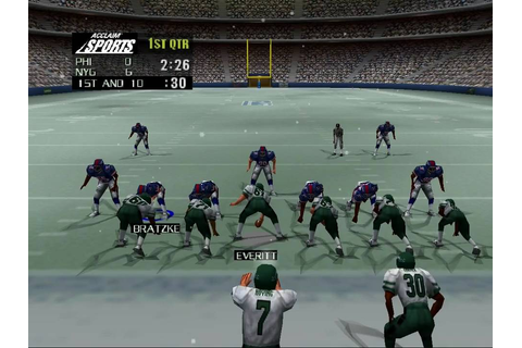 NFL Quarterback Club '99- Eagles vs Giants QTR1 - YouTube