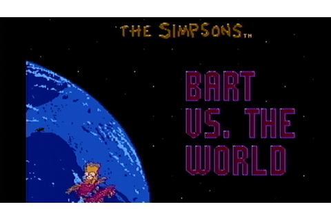 The Simpsons: Bart vs. the World - NES Gameplay - YouTube
