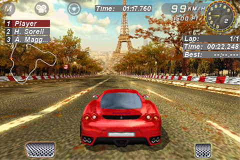 iPhone - Ferrari GT Evolution racing game app review by ...