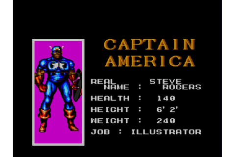 Captain America and the Avengers (USA) ROM