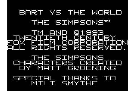 Simpsons The Bart Vs The World Download Game | GameFabrique