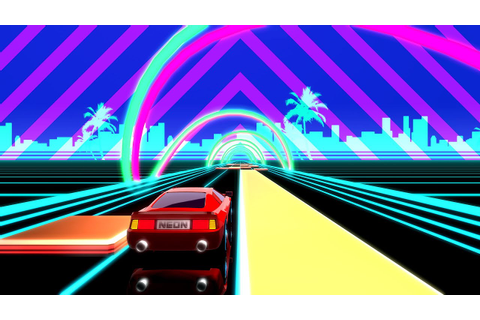 [iOS] Neon Drive - '80s Style Arcade Game - Gameplay - YouTube
