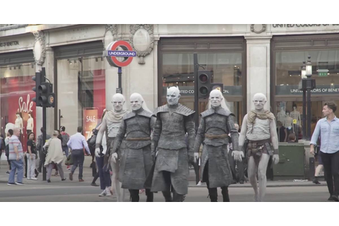 White Walkers strolled the London streets in advance of ...