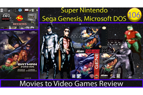 Movies to Video Games Review - Batman Forever (SNES, GEN ...