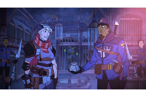 Griftlands is a gorgeously-animated sci-fi RPG from Klei ...