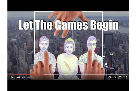 AJR - LET THE GAMES BEGIN (Lyric Video) - YouTube