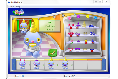Purple Place Game | Windows 7 Games Purble Place - How to ...