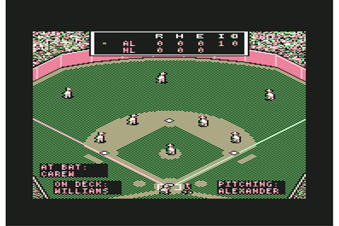 MicroLeague Baseball Screenshots for Commodore 64 - MobyGames