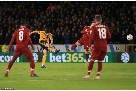 Wolves 2-1 Liverpool: Neves unleashes another thunderbolt ...