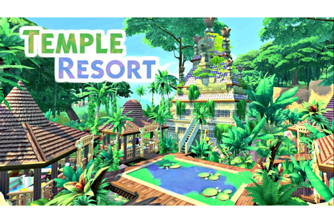 TEMPLE RESORT | Sims 4 Speed Build - YouTube