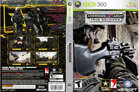 America's Army: True Soldiers (Cover 2007) Capa Xbox 360 ...