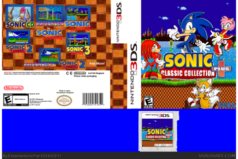 Sonic Classic Collection Plus Nintendo 3DS Box Art Cover ...
