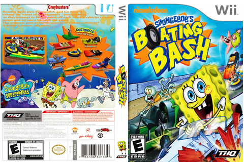 Capa Spongebobs Boating Bash Wii - Gamecover | Capas ...