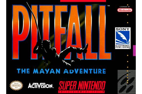 Pitfall Mayan Adventure SNES Super Nintendo