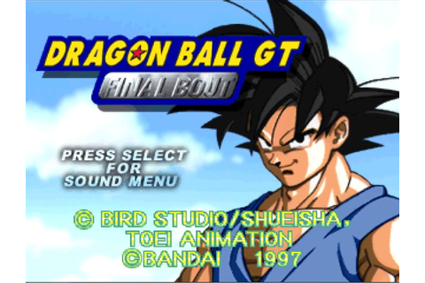Dragonball GT - Final Bout [U] ISO