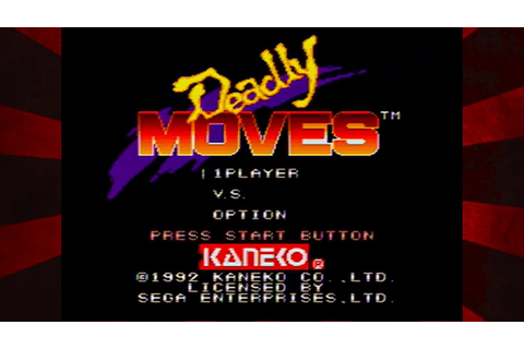 Deadly Moves - SEGA Genesis Game Play - YouTube