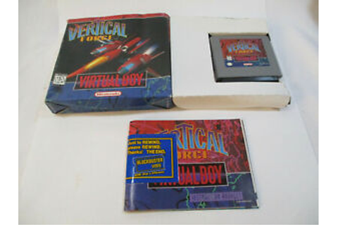 Vertical Force Nintendo Virtual Boy Game With Box And ...