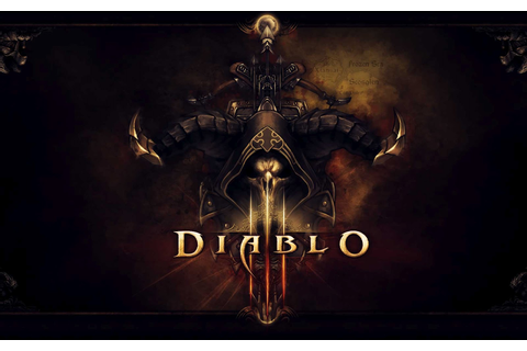 Desktop Wallpaper: Diablo 3 Game Skull Logo Desktop Wallpaper