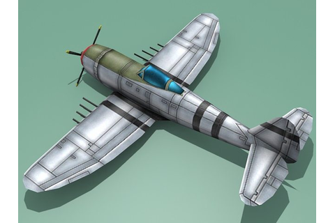 3D model Republic P-47 Thunderbolt VR / AR / low-poly MAX ...