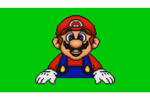 Fundamentals/Game Gallery Mario - Green Screen - YouTube