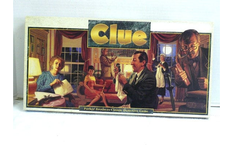 Clue Game 1986 Parker Brothers Classic Detective Game