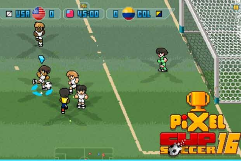 Pixel Cup Soccer 2016 is a no-nonsense football game