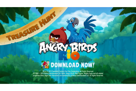 New Treasure Hunt in Angry Birds Rio - YouTube