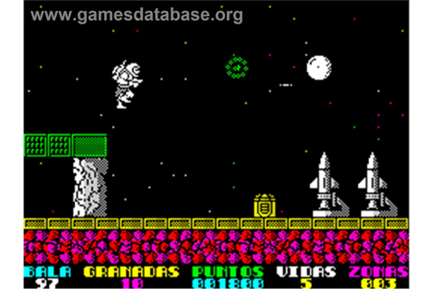 In game image of The Eidolon on the Sinclair ZX Spectrum.
