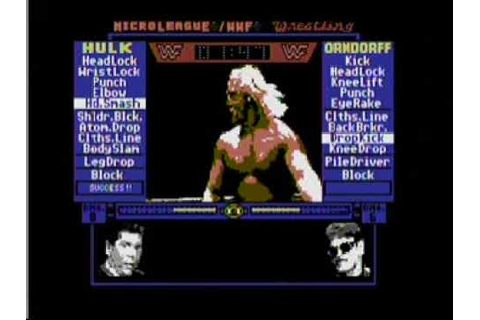 1987 MicroLeague Wrestling/WWF Commodore 64 Game Hogan vs ...
