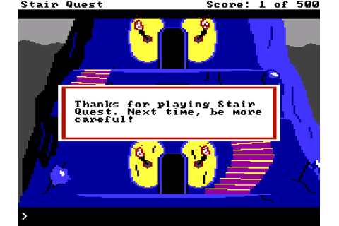 A review of the nightmarish STAIR QUEST
