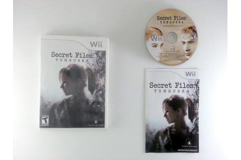 Secret Files Tunguska game for Wii (Complete) | The Game Guy