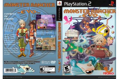 Monster Rancher Evo PlayStation 2 Box Art Cover by Veronica